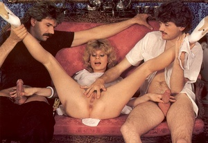 Seventies hottie enjoys two big dicks in - XXX Dessert - Picture 5