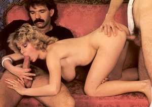 Seventies hottie enjoys two big dicks in - XXX Dessert - Picture 8