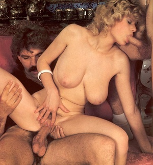 Seventies hottie enjoys two big dicks in - XXX Dessert - Picture 9