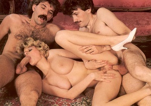 Seventies hottie enjoys two big dicks in - XXX Dessert - Picture 13