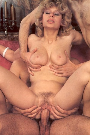 Seventies hottie enjoys two big dicks in - XXX Dessert - Picture 14