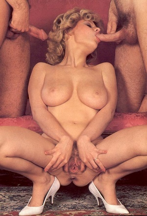Seventies hottie enjoys two big dicks in - XXX Dessert - Picture 15