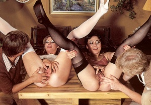 Two hairy seventies girls getting fucked - XXX Dessert - Picture 7