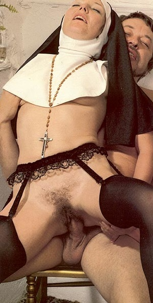 Two hairy seventies nuns stuffed in all  - XXX Dessert - Picture 12