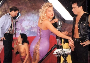 Two horny eighties couples having hot di - XXX Dessert - Picture 1