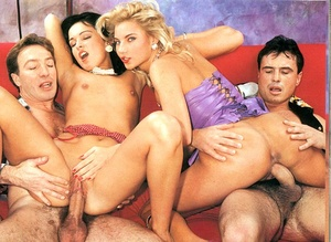 Two horny eighties couples having hot di - XXX Dessert - Picture 16