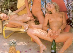 Two shaved seventies ladies playing with - XXX Dessert - Picture 12