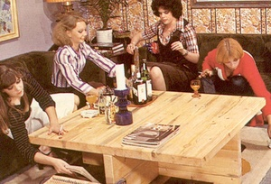 Four hairy seventies lesbians playing di - XXX Dessert - Picture 1