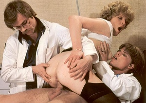 Docters inspecting a wet and hairy seven - XXX Dessert - Picture 15
