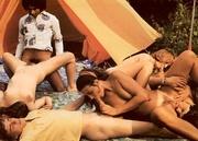 seventies hippies having big