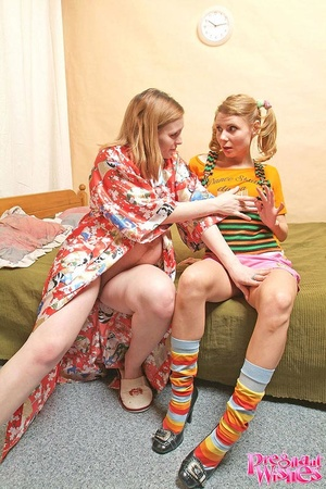 Smutty housewife calls up her lesbian gi - XXX Dessert - Picture 5