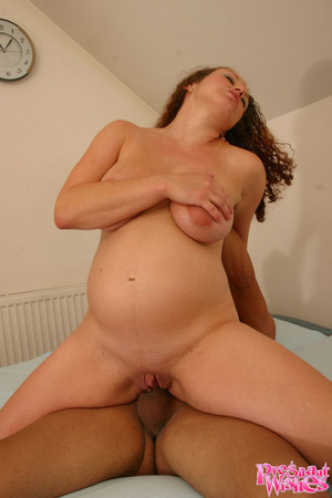 Curly pregnant chick gets fucked mouth t - XXX Dessert - Picture 7