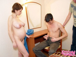 Horny pregnant woman gives guy deepthroa - XXX Dessert - Picture 10