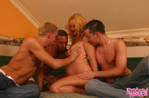 Blonde pregnant cutie with shaved pussy  - XXX Dessert - Picture 3