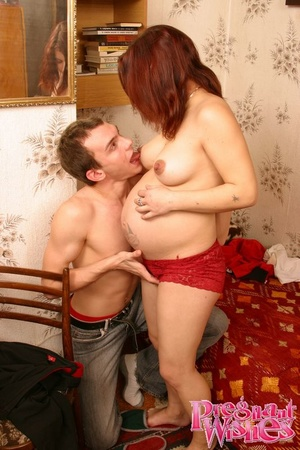Pregnant chick gets her plump nipples li - XXX Dessert - Picture 14