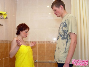 Shorthaired pregnant beauty takes a show - XXX Dessert - Picture 10