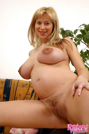 Pretty pregnant lady playing with her la - XXX Dessert - Picture 16