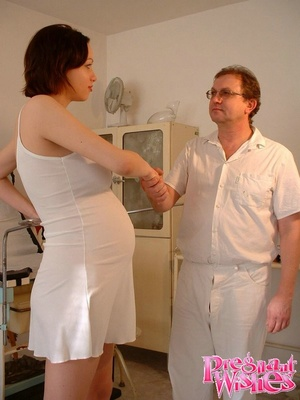 Pregnant beauty gets her tits and pussy  - XXX Dessert - Picture 1