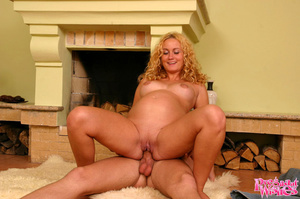 Pregnant blonde gets on her knees to suc - XXX Dessert - Picture 8