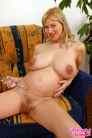 Busty preggo with huge areolas shows muc - XXX Dessert - Picture 8