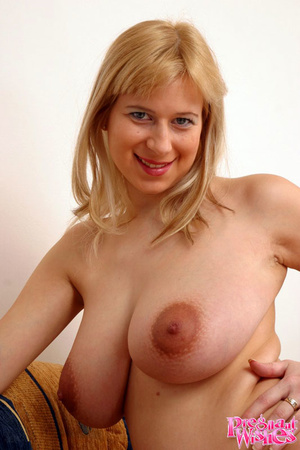 Busty preggo with huge areolas shows muc - XXX Dessert - Picture 11