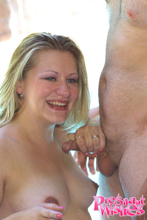 Horny pregnant slut hot poolside fucking - XXX Dessert - Picture 13