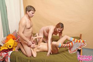 Slutty redhead eats cum off her pregnant - XXX Dessert - Picture 2