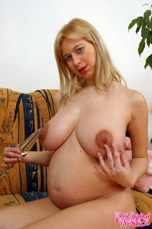 Hot preggo plays with her swollen boobs  - XXX Dessert - Picture 9