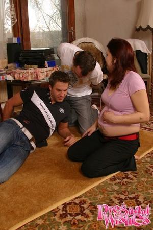 Cock-loving pregnant chick sucks cock an - XXX Dessert - Picture 2