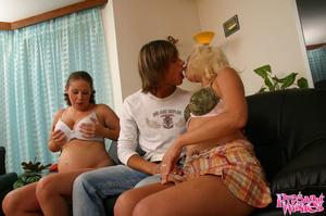 Preggo with heavy boobs enjoys threesome - XXX Dessert - Picture 2