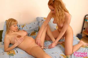 Beautiful lesbian girl licking pregnant  - XXX Dessert - Picture 9