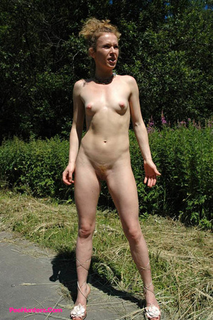 Teeny pissing in the middle of the country road - XXXonXXX - Pic 16