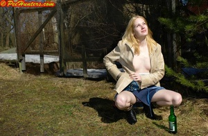 Nice teen sunbathing and peeing - XXXonXXX - Pic 2