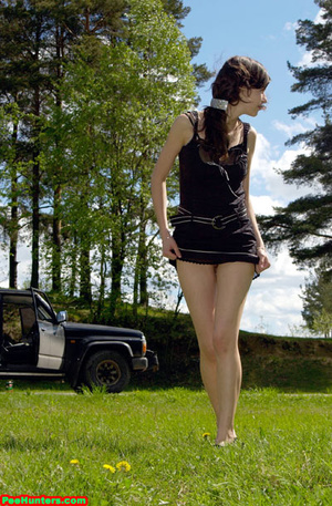 Spying on teen peeing behind the car - XXXonXXX - Pic 12