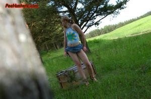 Spying on sexy teen peeing outdoor - XXXonXXX - Pic 5