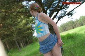 Spying on sexy teen peeing outdoor - XXXonXXX - Pic 6