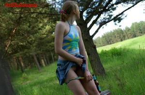 Spying on sexy teen peeing outdoor - XXXonXXX - Pic 8