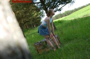 Spying on sexy teen peeing outdoor - XXXonXXX - Pic 9