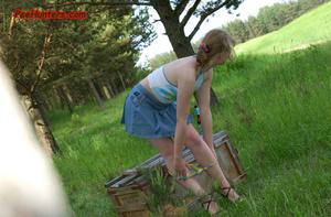 Spying on sexy teen peeing outdoor - XXXonXXX - Pic 10