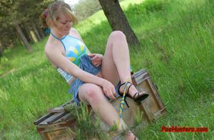 Spying on sexy teen peeing outdoor - XXXonXXX - Pic 12