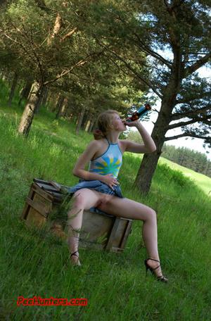 Spying on sexy teen peeing outdoor - XXXonXXX - Pic 14