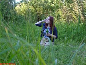 Spying on peeing redhair chubby teen - XXXonXXX - Pic 2