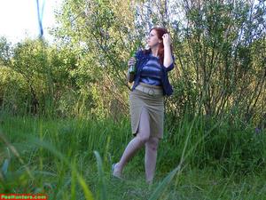 Spying on peeing redhair chubby teen - XXXonXXX - Pic 5