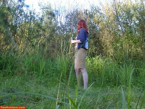 Spying on peeing redhair chubby teen - XXXonXXX - Pic 7