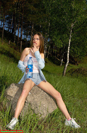 Spying on exciting beautiful teen peeing in the park - XXXonXXX - Pic 8