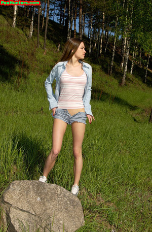 Spying on exciting beautiful teen peeing in the park - XXXonXXX - Pic 9