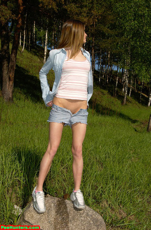 Spying on exciting beautiful teen peeing in the park - XXXonXXX - Pic 15