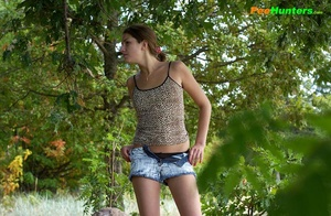 Young swarthy babe pisses sitting on the rock - XXXonXXX - Pic 2