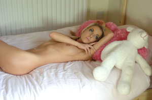 Adorable blonde babe Becky taking off he - Picture 15