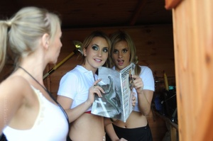 Two skiving college girls Amy Green and  - XXX Dessert - Picture 6
